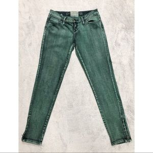 American Rag Green Skinny Jeans w/ Ankle Zippers